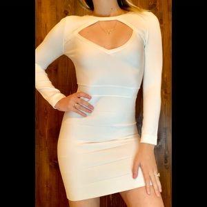 White long sleeve cocktail dress!!